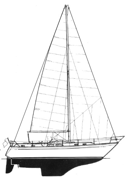 Colvic Countess 37 drawing on sailboatdata.com