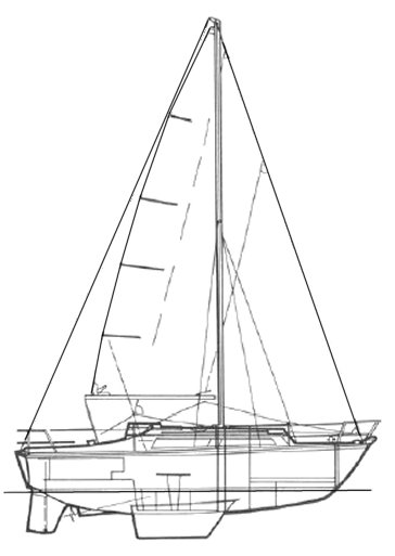 Colvic Sailer 26 drawing on sailboatdata.com