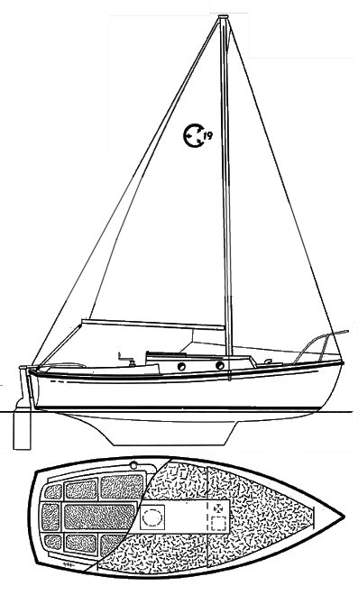 Com-Pac 19 drawing on sailboatdata.com