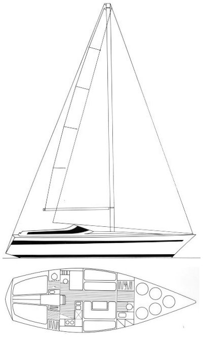 Comet 11 drawing on sailboatdata.com