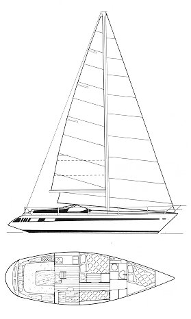 Comet 11 Plus drawing on sailboatdata.com