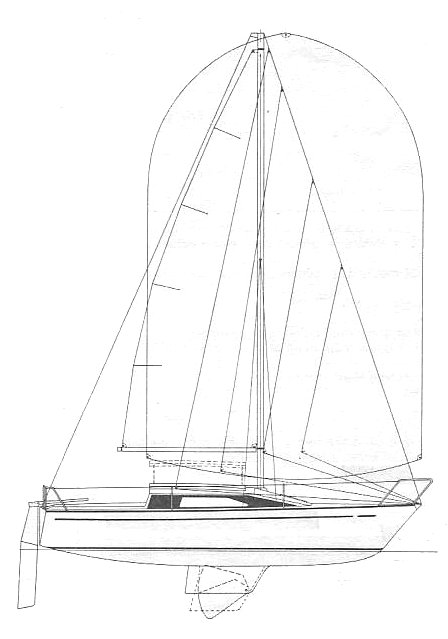 Comet 700 drawing on sailboatdata.com