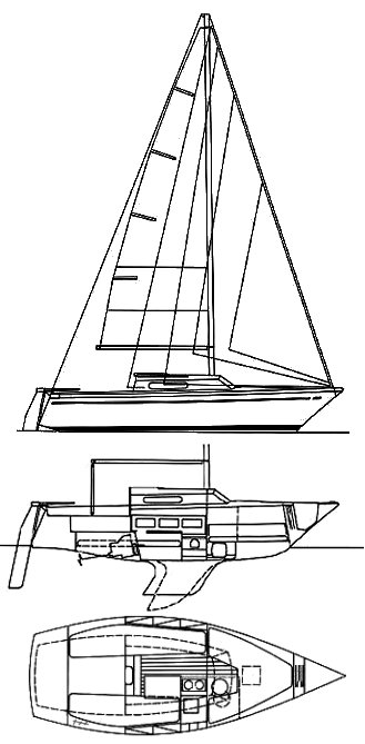 Comet 701 drawing on sailboatdata.com