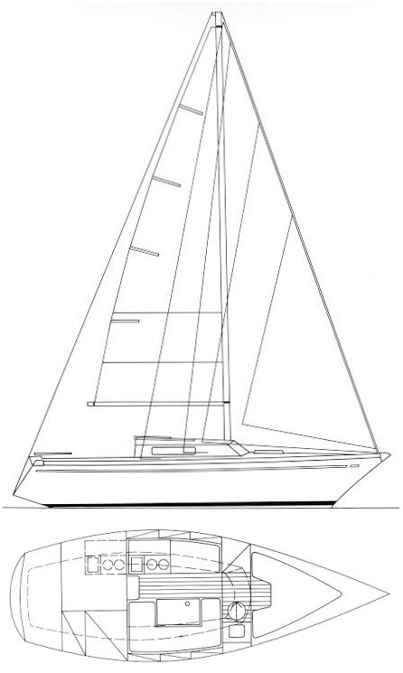 Comet 770 drawing on sailboatdata.com