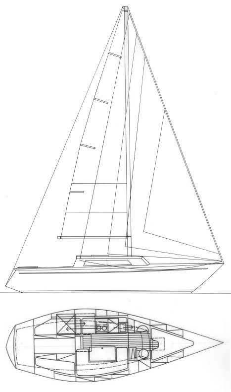Comet 910 drawing on sailboatdata.com