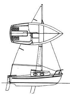 Commodore 17 drawing on sailboatdata.com