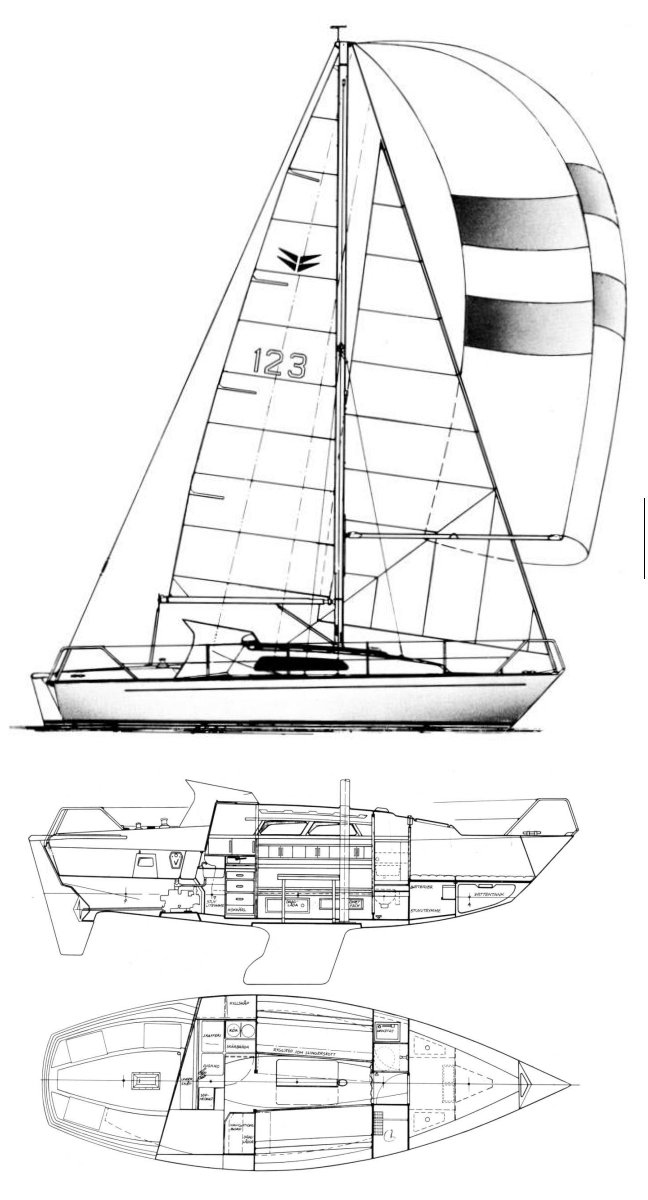 Compis 28 drawing on sailboatdata.com