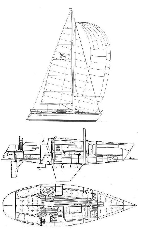 Compis 345 drawing on sailboatdata.com