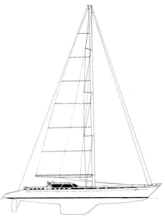 Concorde 151 drawing on sailboatdata.com