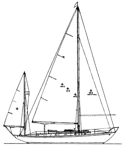 Concordia 41 drawing on sailboatdata.com