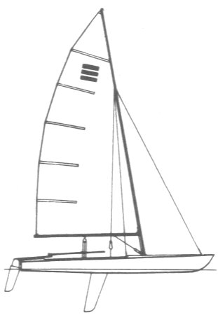Contender drawing on sailboatdata.com