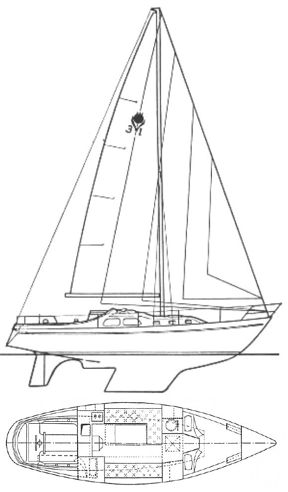 Contest 31 drawing on sailboatdata.com