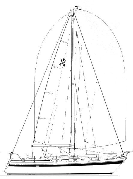 Contest 34 drawing on sailboatdata.com