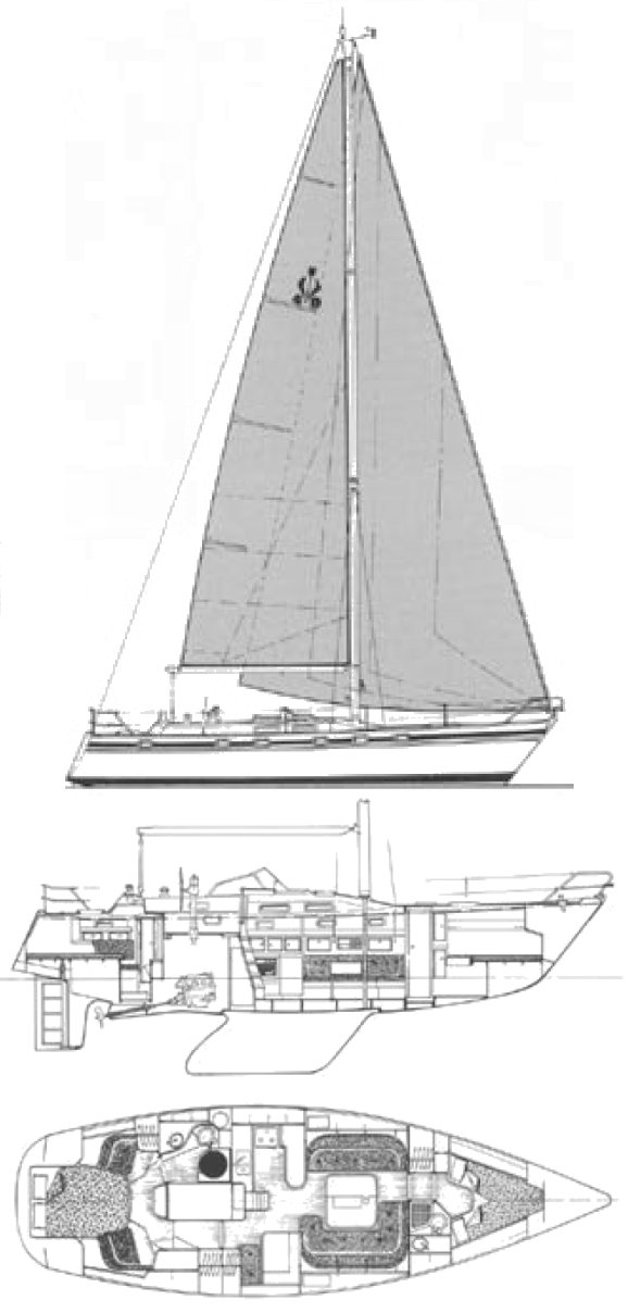 Contest 40S drawing on sailboatdata.com