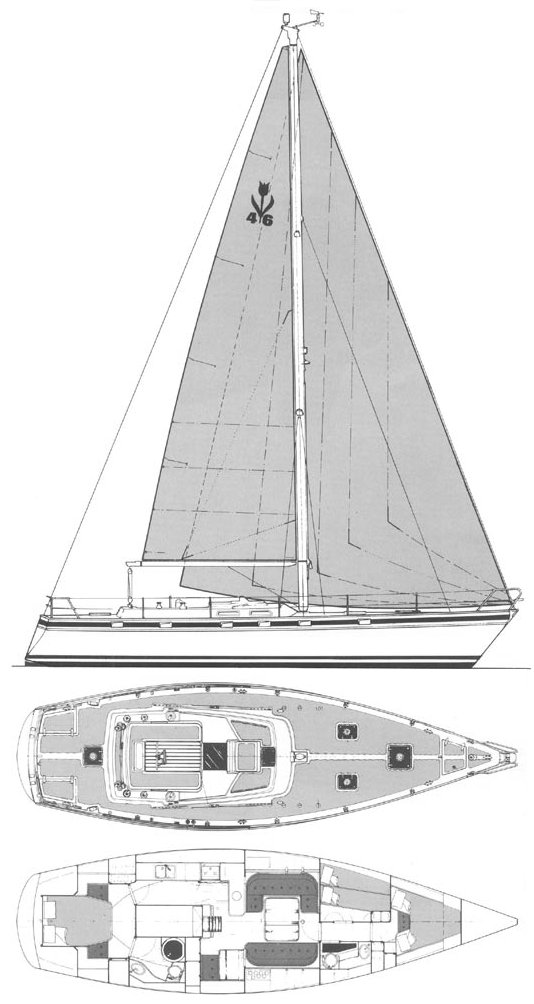 Contest 46 drawing on sailboatdata.com