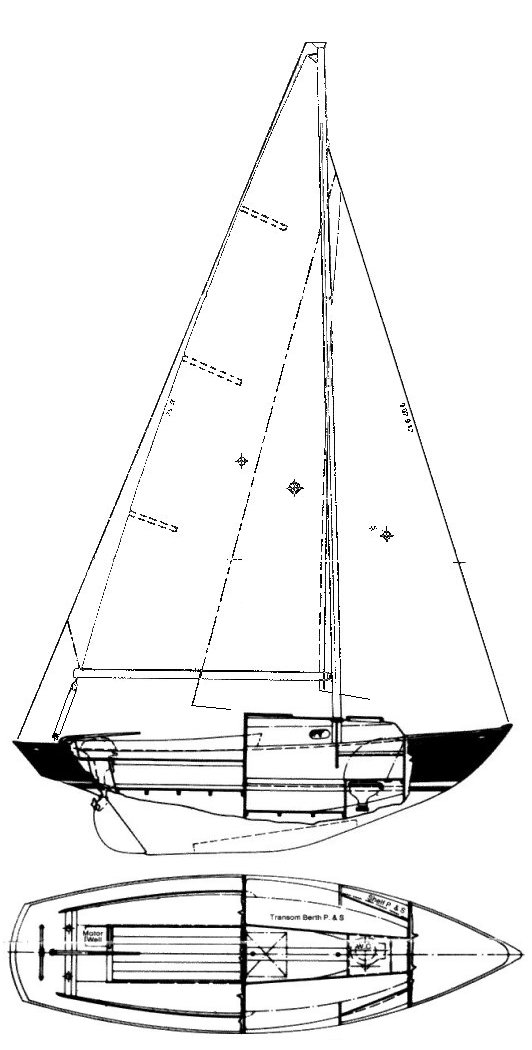 Corinthian 19 drawing on sailboatdata.com