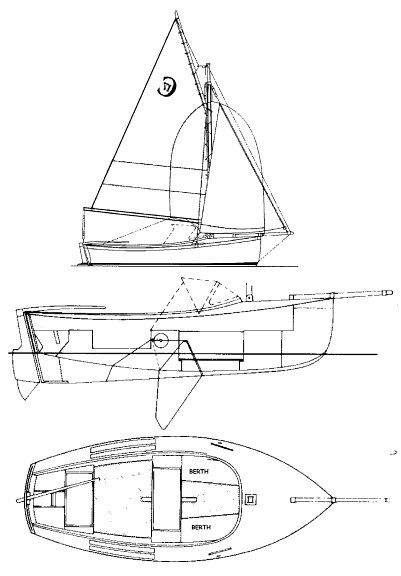 Cornish Crabber drawing on sailboatdata.com