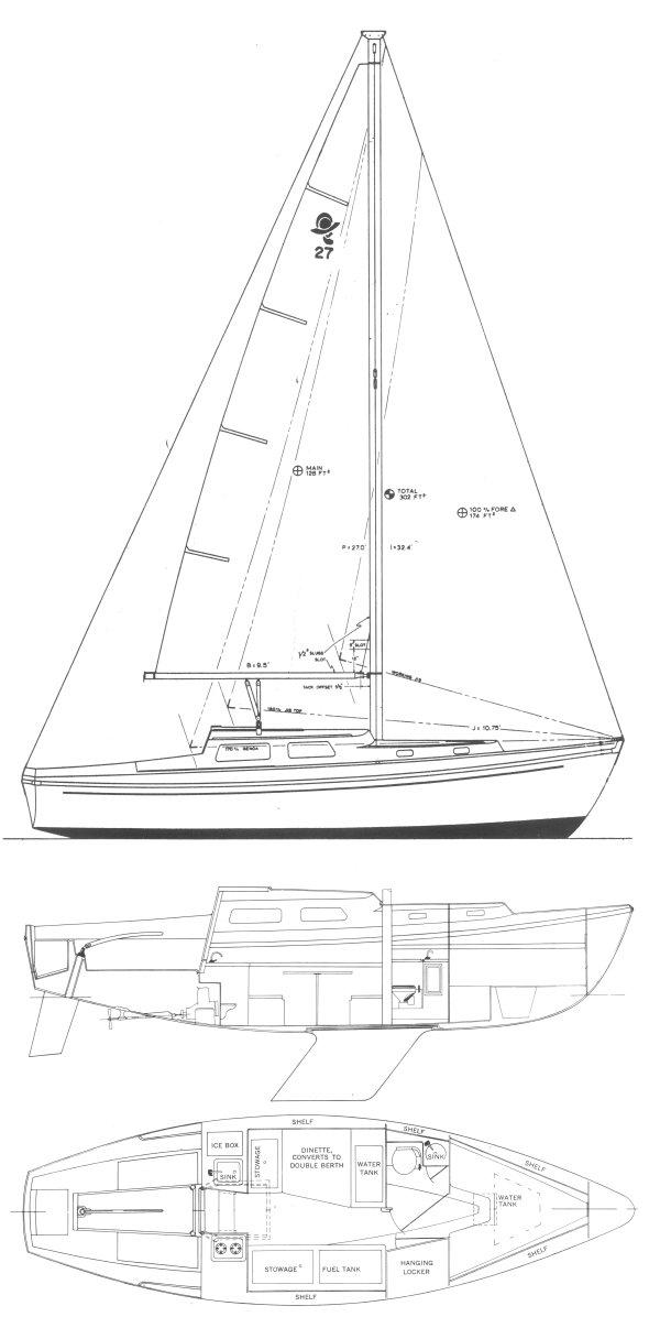 CORONADO 27 drawing