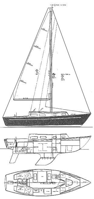 CORONADO 28 drawing