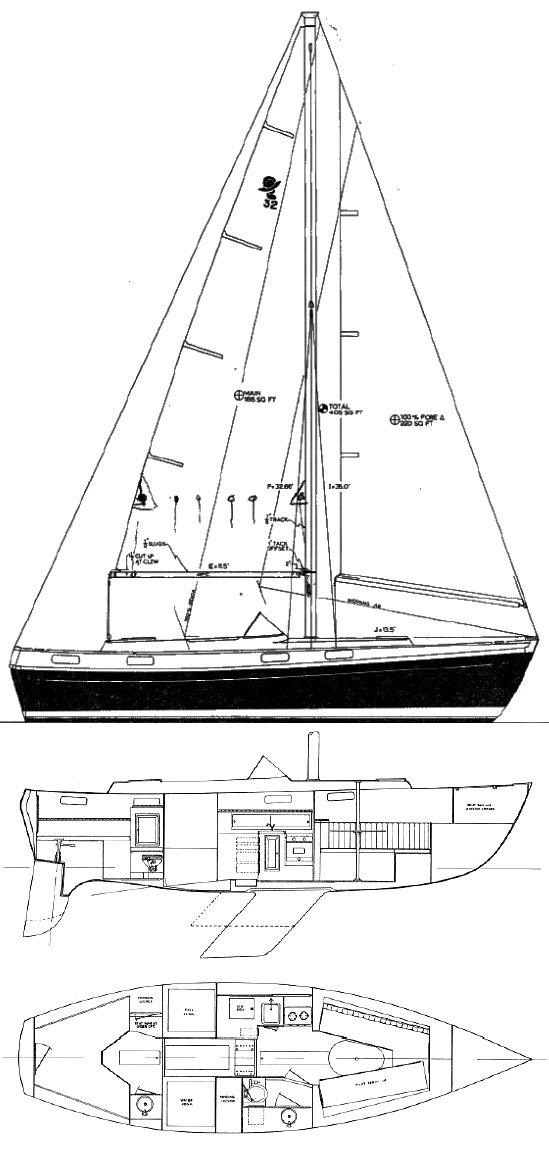 CORONADO 32 drawing