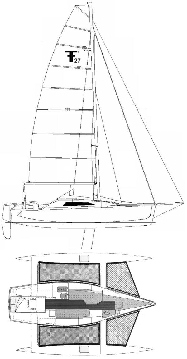 CORSAIR 27 drawing