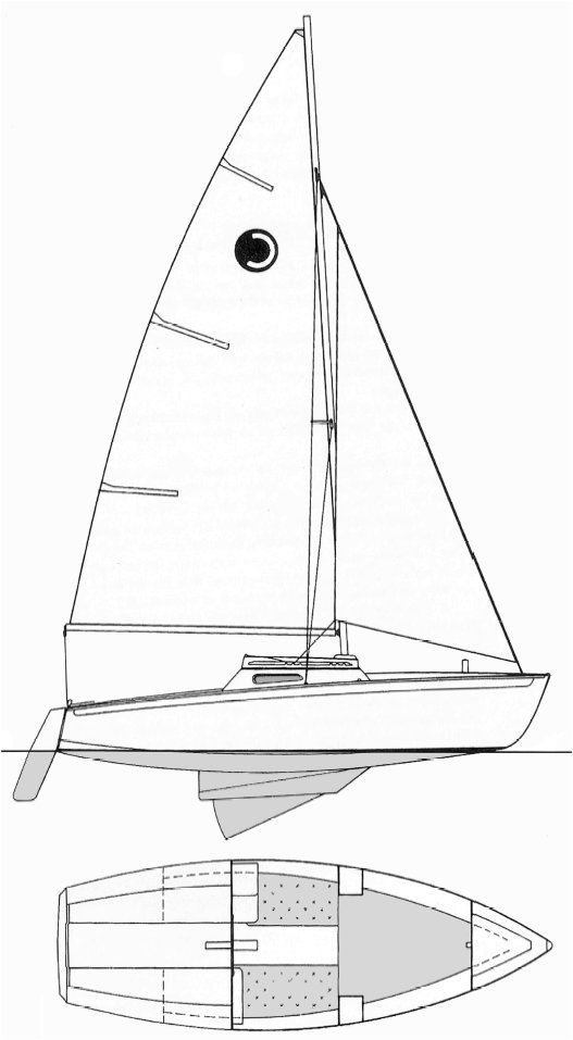 Corsaire (Herbulot) drawing on sailboatdata.com