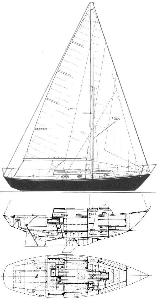 CORVETTE 31 (C&C) drawing