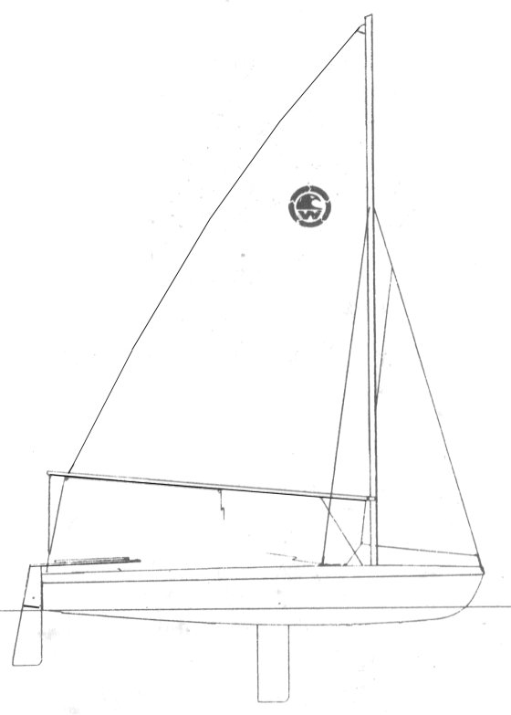 Crestwind (Sears) drawing on sailboatdata.com