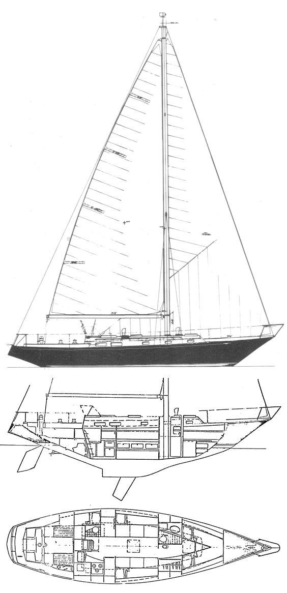 C&C 40 CRUSADER drawing