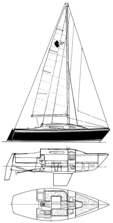 CS 27 drawing on sailboatdata.com