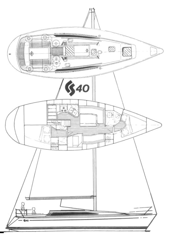 CS 40 drawing on sailboatdata.com