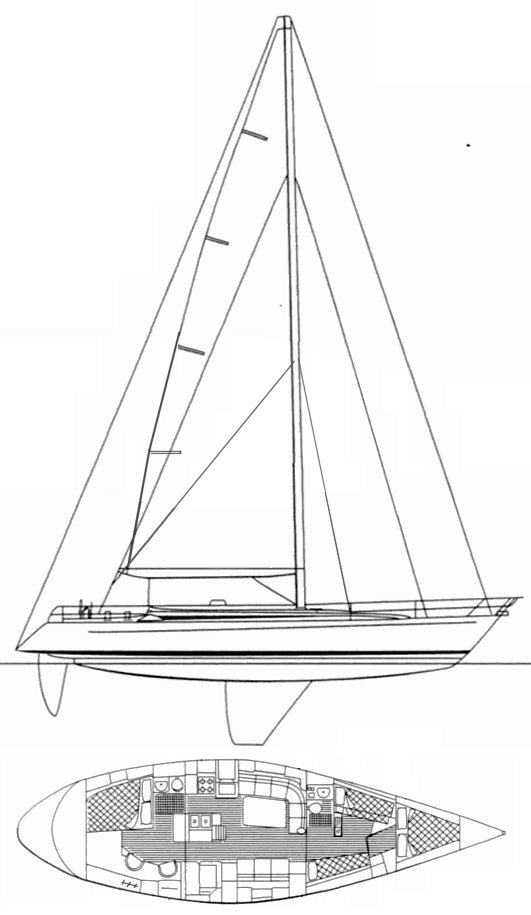 CS 50 drawing on sailboatdata.com