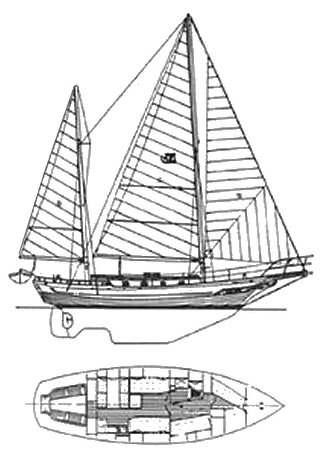 CT-42 Mermaid drawing on sailboatdata.com