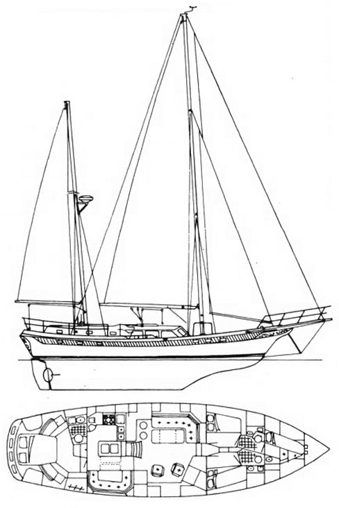 CT-56 drawing on sailboatdata.com