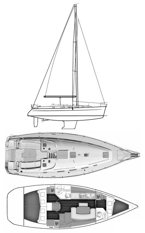 CYCLADES 39.3 (BENETEAU) drawing