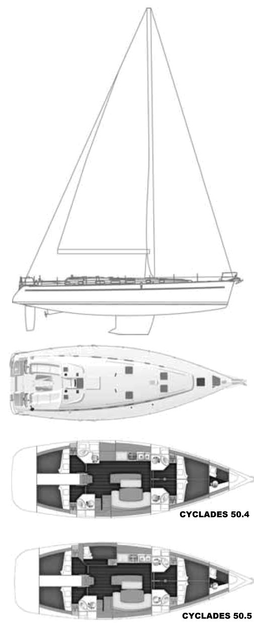 CYCLADES 50.5 (BENETEAU) drawing