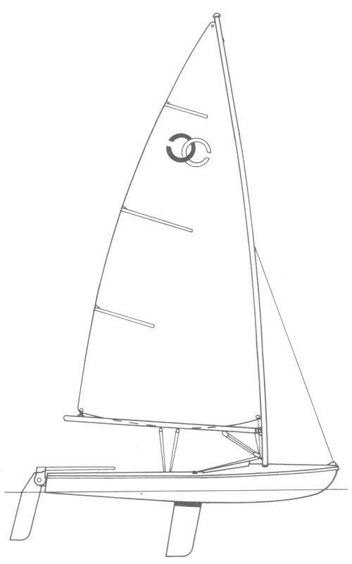 Cyclone 13 drawing on sailboatdata.com