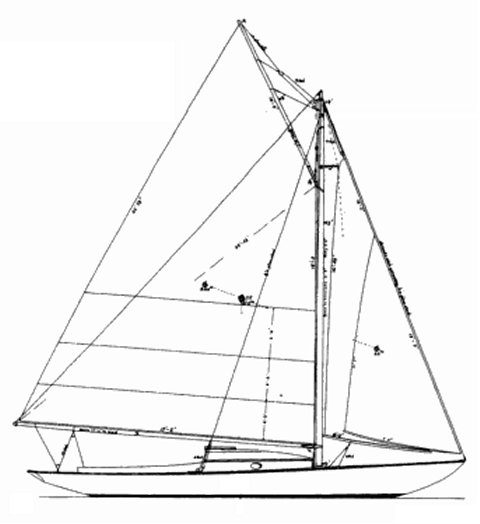 Dark Harbor 17 1/2 drawing on sailboatdata.com