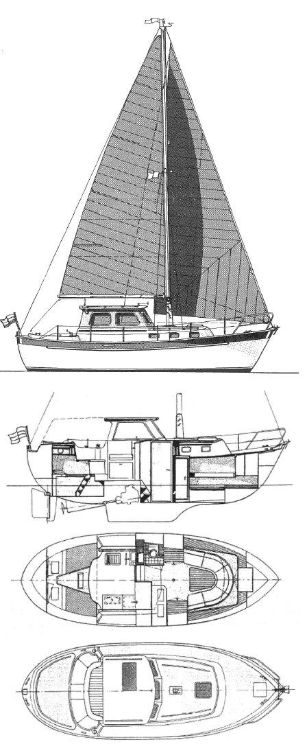 DARTSAILOR 27 drawing