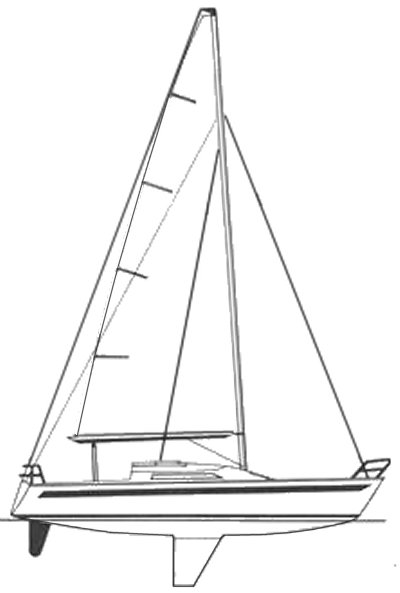 Dash 34 drawing on sailboatdata.com