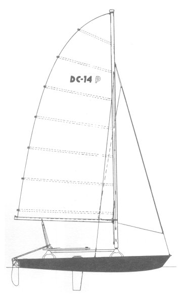 DC-14 Phantom drawing on sailboatdata.com