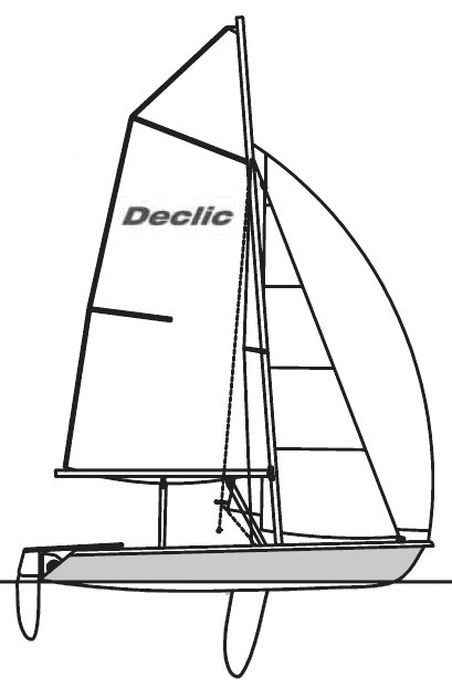 Declic drawing on sailboatdata.com