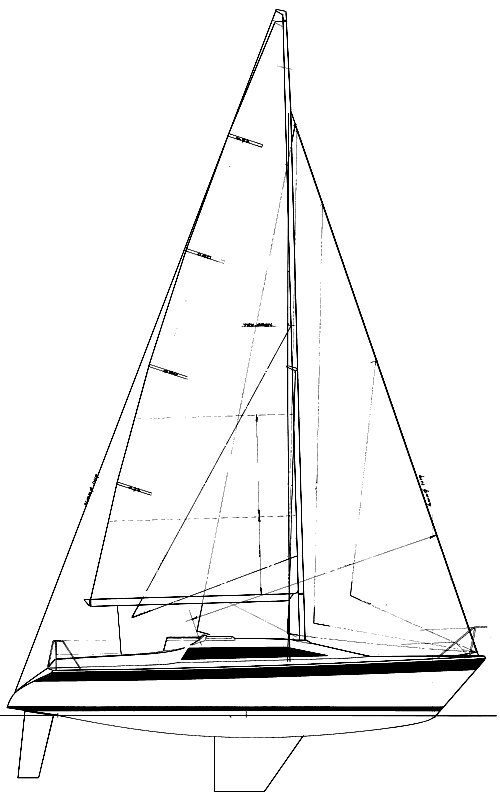 Dehler 31 drawing on sailboatdata.com