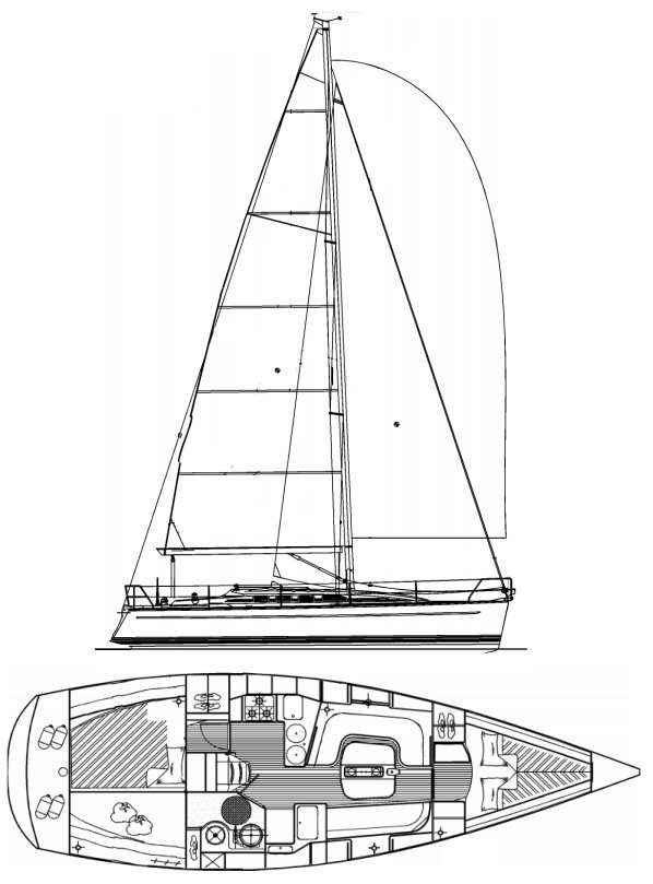 SailboatData com - DEHLER 36 SQ Sailboat