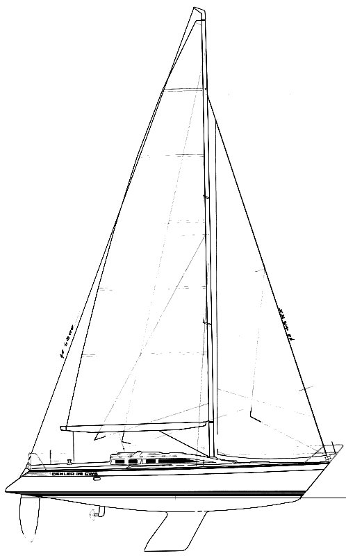 Dehler 39 CWS drawing on sailboatdata.com