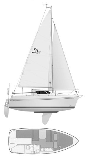 Delphia 22 drawing on sailboatdata.com