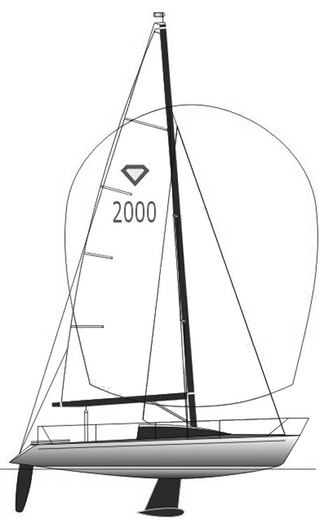 Diamant 2000 drawing on sailboatdata.com