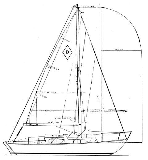 Diamond MkII drawing on sailboatdata.com