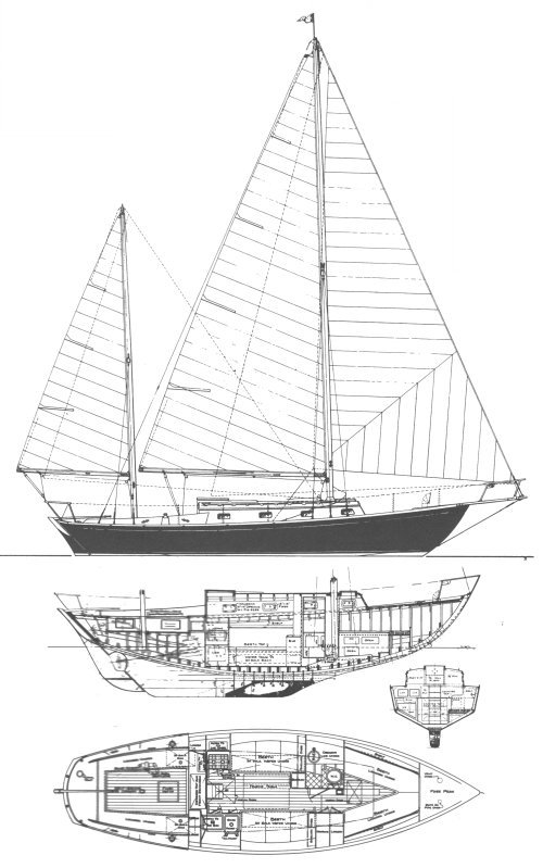 Dickerson 35 (Whittholz) drawing on sailboatdata.com