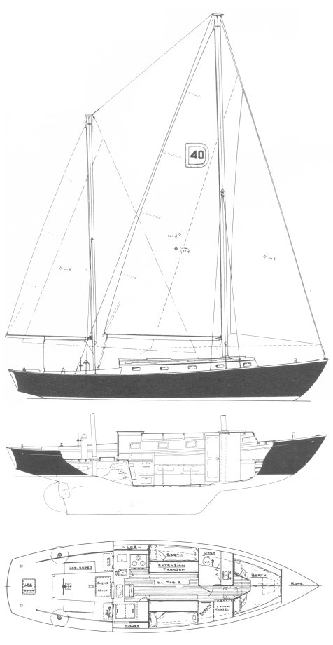Dickerson 40 drawing on sailboatdata.com